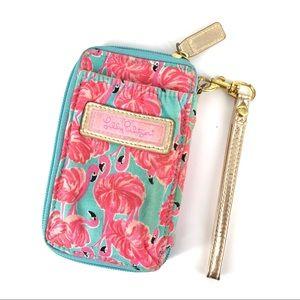 Lilly Pulitzer Pink Flamingo Phone Case Wristlet